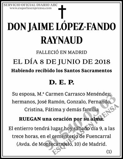 Jaime López-Fando Raynaud